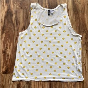 Smiley Face tank top L